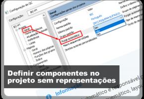 Definir componentes no projeto sem representações