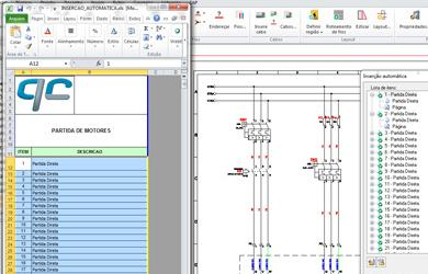 Criação de esquema elétrico a partir de planilhas